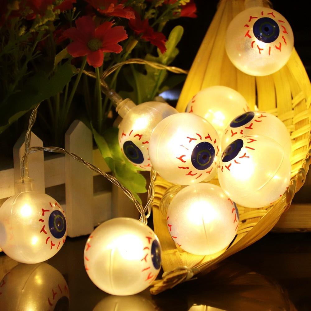 Halloween Props 1M LED Strenge Lys Holiday Creative Dekorative Lights - Ferie belysning - Foto 2