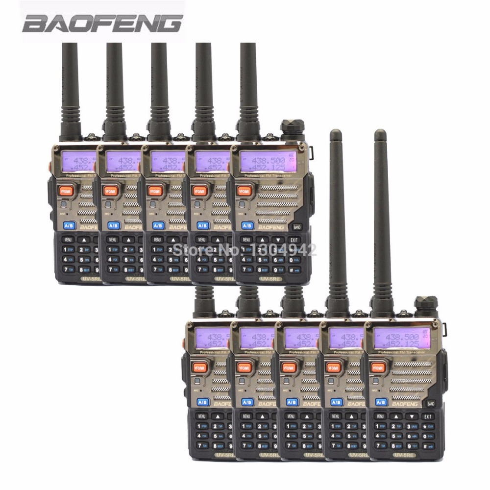 <font><b>10</b></font> PCS New Black BaoFeng UV-5RE Dual Band Two Way Radio 136-174MHz&400-520 <font><b>MHz</b></font> Walkie Talkie image