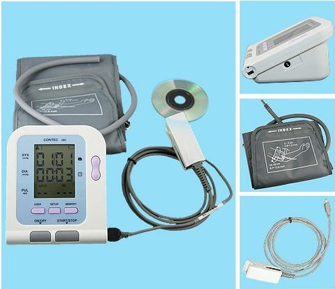 Free Shipping Digital Blood Pressure Monitor --sphygmomanometer--CE&FDA free shipping fully automatic arm digitl blood pressure monitor sphygmomanometer color lcd with ce fda