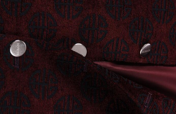 Blazer Printemps Automne Style navy Survêtement Costume Fit Tunique Rouge Slim Personnes Âgées D'anniversaire Chinois Montant Hommes Col Masculino Tang Costumes Qhrtsd