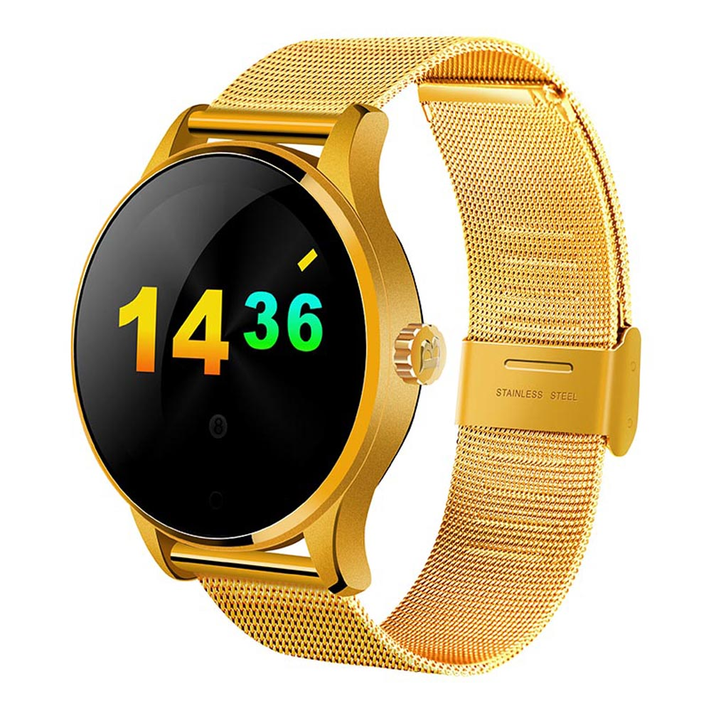 1.22 Inch IPS Round Screen Smart Bluetooth Watch K88H for IOS Huawei Sony Android Phone Smartwatch Heart Rate Monitor Wristwatch hot sale smart watch charming l6 sim card ips round screen stainless steel bluetooth smartwatch push or ios android phone high