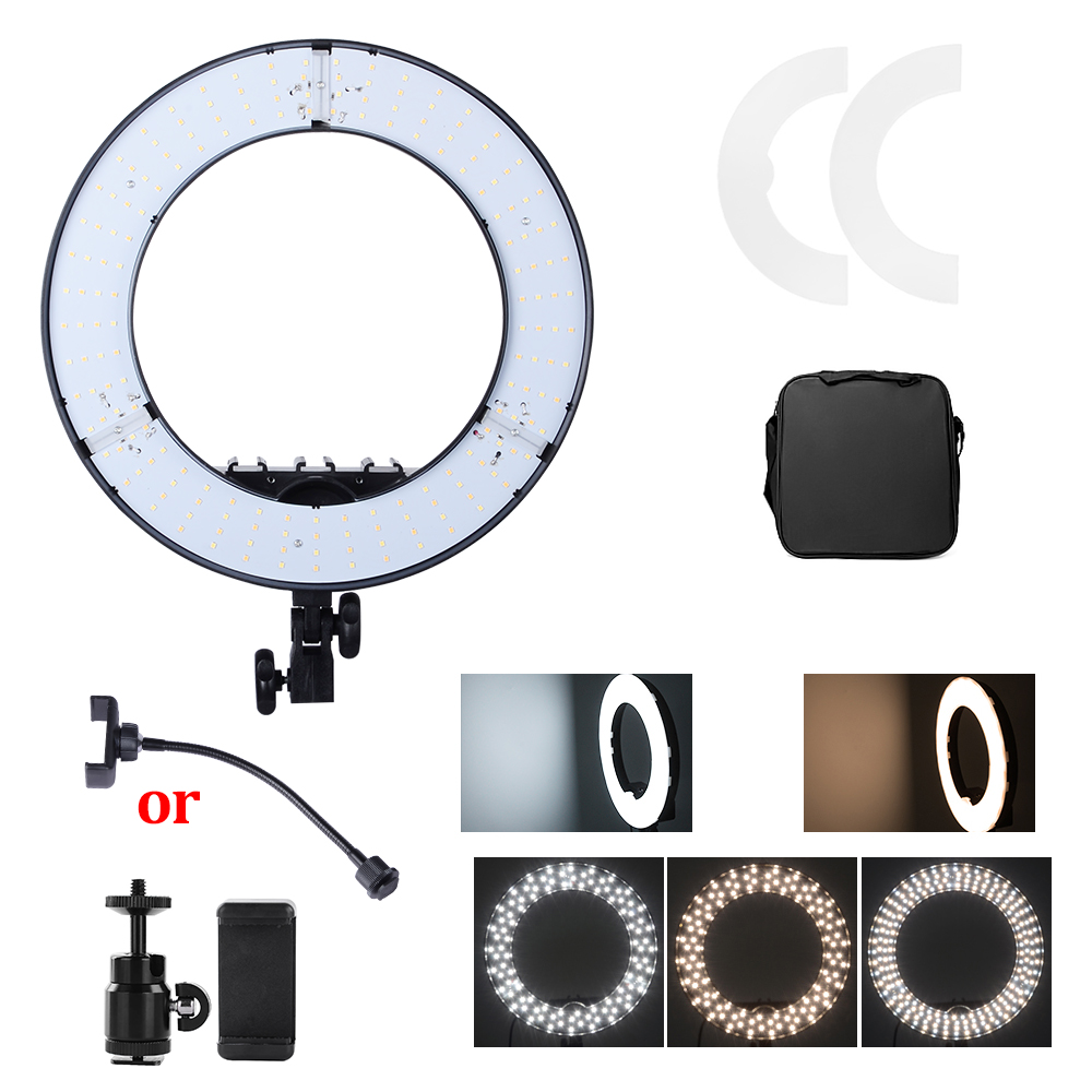 45W Digital Photographic Studio Ring Light 3200 5600K With 180 Beads LED Camera Photo Dimmable LED