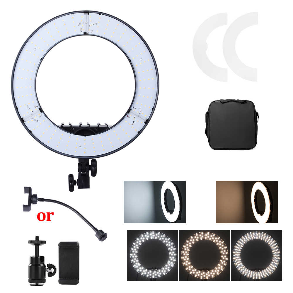 45W Digital Photographic Studio Ring Light 3200-5600K With 180 Beads LED Camera Photo Dimmable LED lighting Vedio Light With Bag