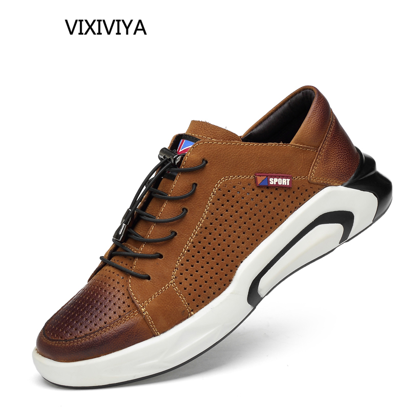 2018 fashion men's shoes genuine leather spring&summer casual shoes men platform breathable shoes for men loafers yellow shoe 10 clax men s casual shoes fashion leisure shoe 2018 spring summer men leather footwear breathable handmade loafers sewing sole