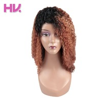 Hair Villa Brazilian Afro Kinky Wave Remy Human Hair Lace Front Wigs #OP27 For Black Women Human Hair Long Lace Wigs 18 Inch