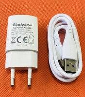 Original 2.0A Cargador de Viaje Adaptador de Enchufe de LA UE + Cable USB para Blackview BV6000 4.7