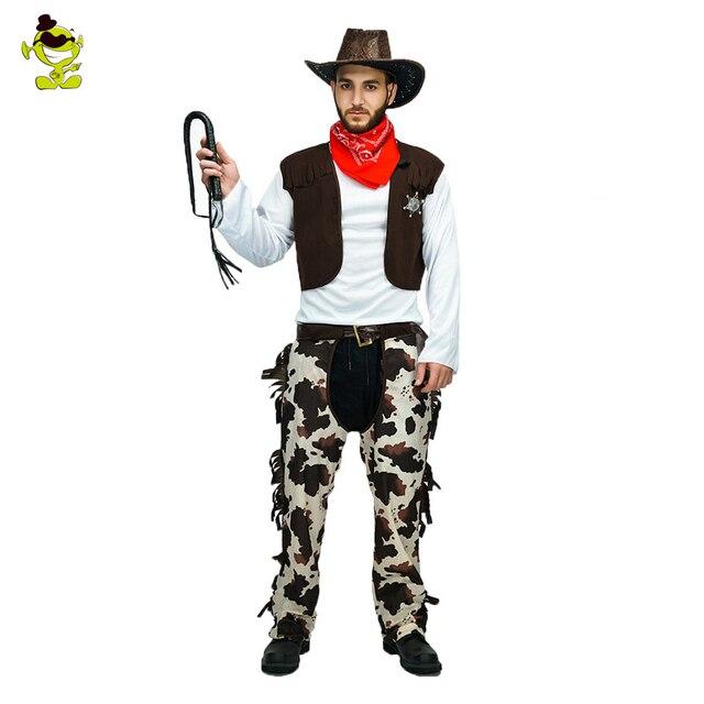 Halloween Party Kleding.Us 22 8 5 Off Mannen Western Cowboy Kostuum Halloween Party Fancy Dress Knappe Cowboy Carnaval Party Kleding Cosplay Cowboy Kostuums In Mannen