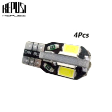 цена на 4pcs T10 8SMD 5630 LED Car Light Canbus NO OBC ERROR Auto Wedge Lamp W5W 8 SMD 5730 Led Parking Bulb 12V white warm