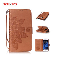 Embossing Flower Leather Case For Samsung Galaxy S2 S3 S4 S5 Mini S6 S7 Edge A3