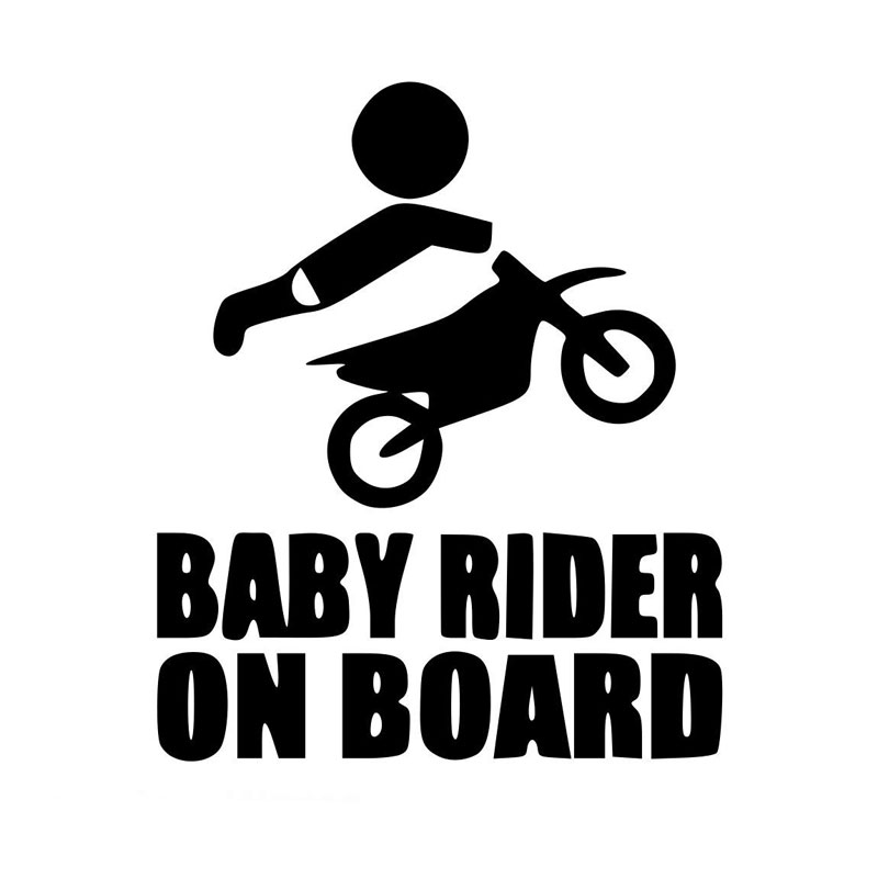 Motorcycle sticker Baby Dirtbike Sticker Dirt Bike Motocross Stunts Motorcycle Paddles Car Stickers and Decals
