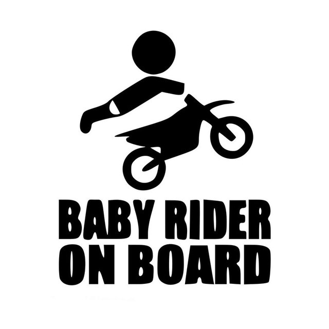 motorcycle sticker baby dirtbike sticker dirt bike motocross stunts