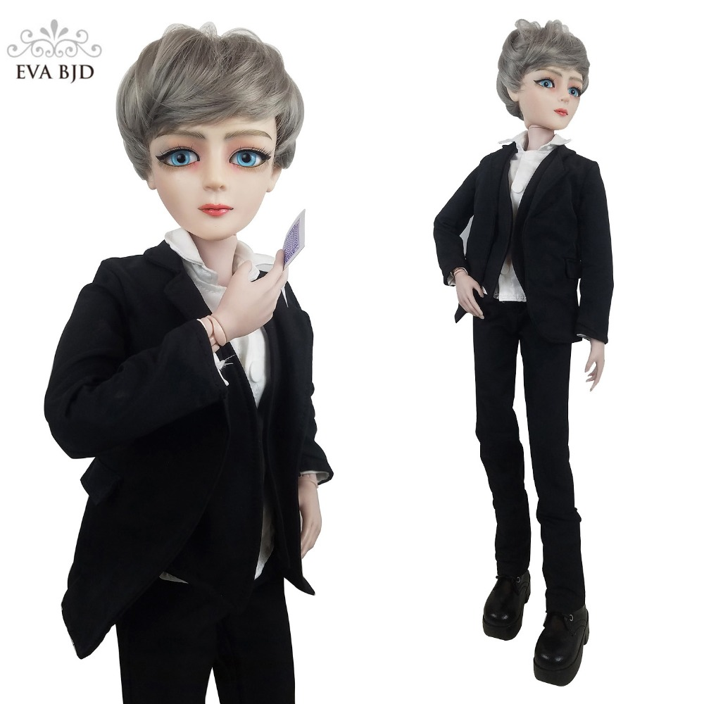24 BJD Full Set + Makeup + 1/3 EVA BJD Gamble Boy Man 1:3 BJD Doll SD Doll 60cm 24 jointed dolls Toy Figure Boyfriend 24 full set bjd doll devil manager men chinese manager ball jointed dolls sd doll toy boyfriend boy gift for boy children