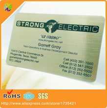 Buy visiting card size and get free shipping on aliexpress 03mm thickness standard credit card size brushed card face effect visit card metal for stainless reheart Images