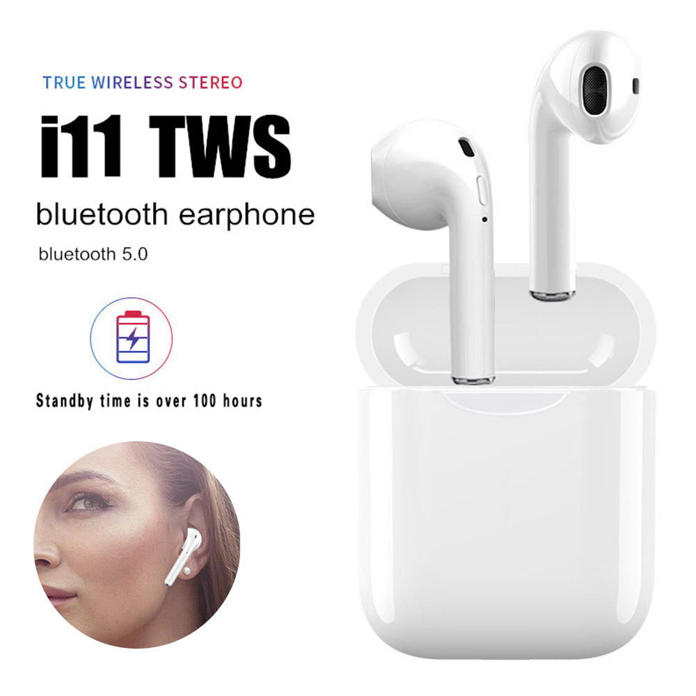 i11 TWS Bluetooth 5 0 Wireless Earphones Earpieces mini in ear air pods Earbuds For all