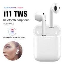 I11 TWS Bluetooth 5,0 беспроводной наушники мини-вкладыши air pods наушники для всех смартфонов с зарядным устройством