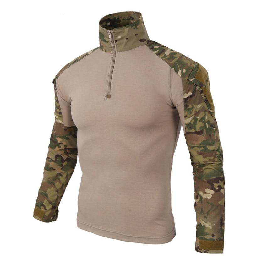 Espressive 12 Colori Camouflage Abbigliamento Tattico Militare Camicette Degli Uomini Di Esercito Militare Uniforme Da Combattimento-provata Soldier Field Caccia Outwear Buon Sapore
