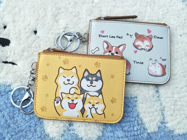 Cão dos desenhos animados PU coin bolsas mulheres mini carteiras chave titular do cartão bonito sacos de dinheiro para as meninas bolsa crianças bolsa 1 pc Enviar Aleatória