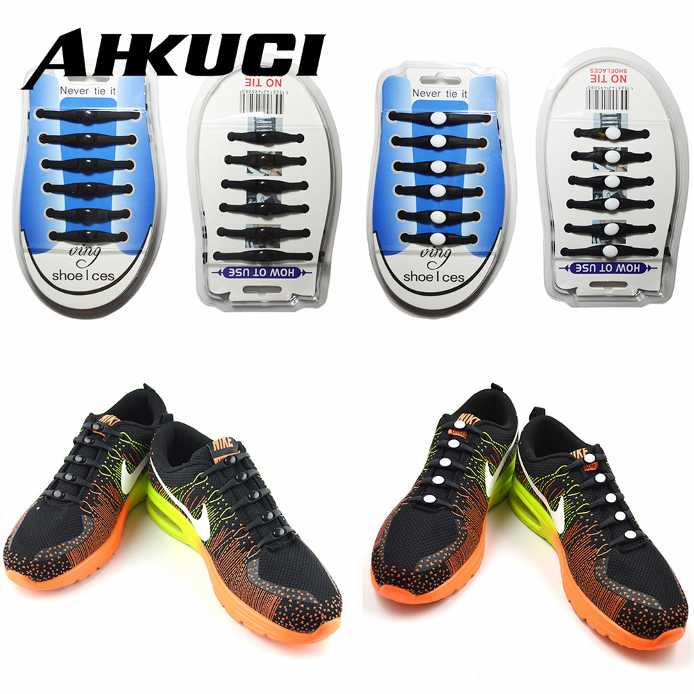 Wholesale 12pcs/set Silicone shoes lace Elastic Plastic Lazy No Tie Free Tie Arrow Shoelaces for Sport Shoes Sneaker Mules Clogs 12pcs lot silicone shoelaces 2017 rubber overshoes men women elastic plastic lazy shoeslace no tie sports casual shoes pink blue
