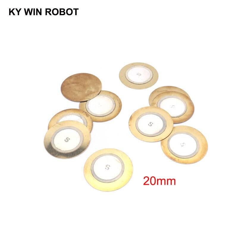 100 Pcs/Lot Piezoelectric Piezo Ceramic Wafer Plate Buzzer Loudspeaker Dia 20mm For Arduino Diy