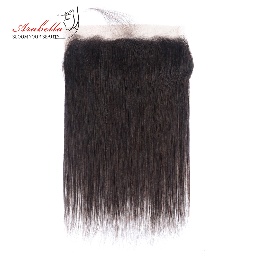 Arabella Brazilian Human Hair Natural Straight 13*4 Lace Frontal Swiss Lace 10-22 Inch Remy Hair Weaving Free Part Natural Color