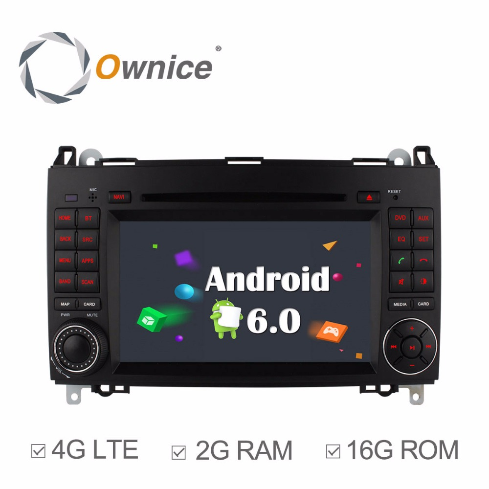Ownice 4g SIM LTE Android6.0 8 Core 32g ROM Voiture DVD GPS Navi Pour Mercedes Un-classe w169 Sprinter W209 Crafter Viano Vito LT3 W245