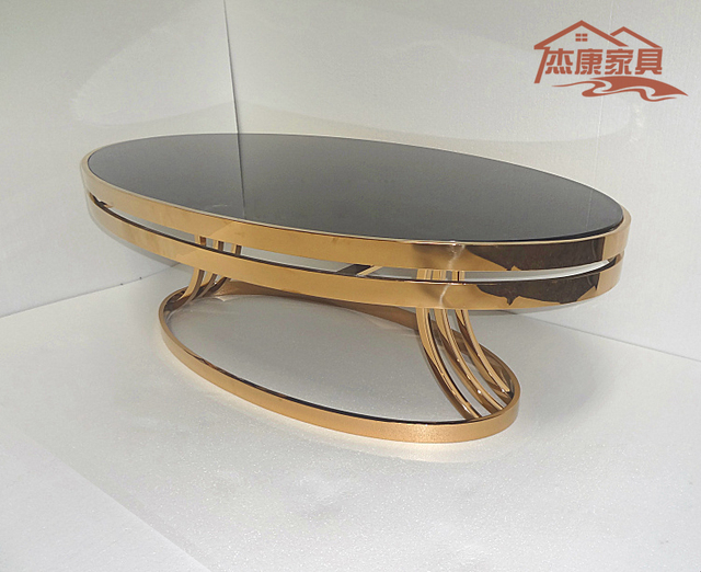 Delicieux Neoclassical Oval Coffee Table, Coffee Table , Stylish Hotel Living Room  Sofa Table And A Few Tea Rose Gold Stainless Steel Coff