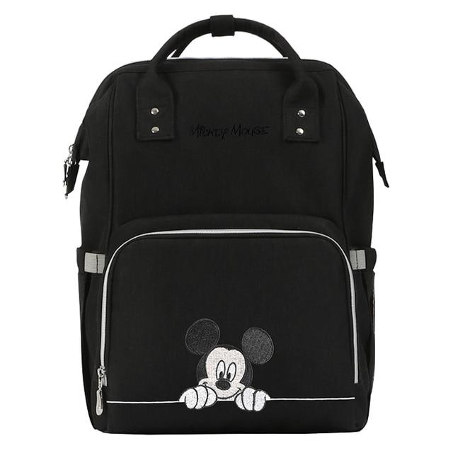 Bolsa de pañales de Minnie Mickey, mochila para bebé, mochila para bebé