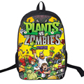New 2017 Cartoon Backpack High Quality Nylon Plants vs Zombies Printing Backpack Teenager Boys Girls School Shoulder Bag Satchel