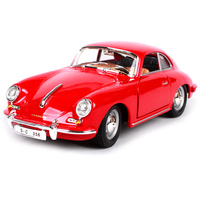 Burago 1:24 1961 356B Coupe Vintage Diecast Model Car Simulatio Collector Edition Metal Kids Toys Christmas Gift