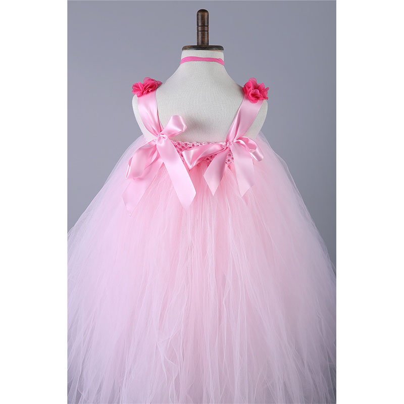 Girl Tulle Flower Party Tutu Dress Vestidos For Wedding Birthday ...