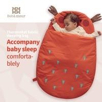 Bebamour Baby Sleeping Bag Winter Use Cotton Sleeping Sack Halloween Classic little devil Shape Sleeping Wrap for babies