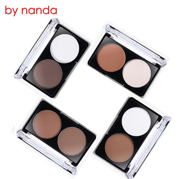 By Nanda Face Shading Powder Contour Bronzer Highlighter Palette Set Trimming Powder Makeup Face Contour Grooming Pressed Powder