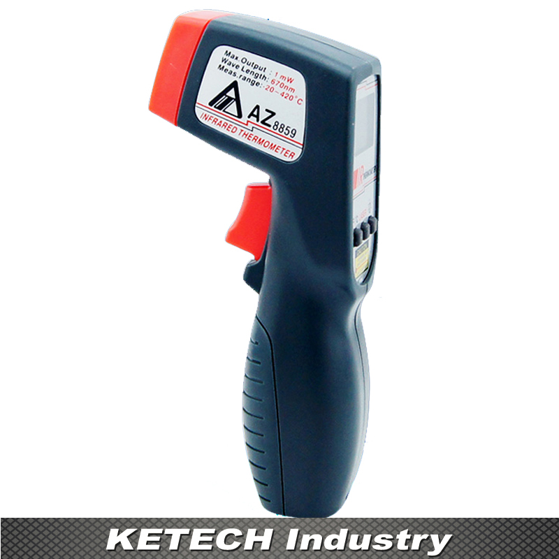 AZ-8859 Non Contact Infrared Thermometer Gun Type IR Thermometer Digital Infrared Thermometer -20~420C весы напольные vitek vt 1982 bk 31 31 35см вес 7 180 кг платформа из гальки