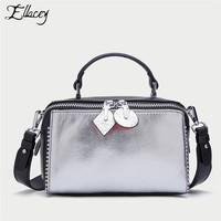 b91954a07 2019 Luxury Handbags Rivet Genuine Leather Cowhide Totes Crossbody Bags  Women Bags Designer Shoulder Bag Ladies