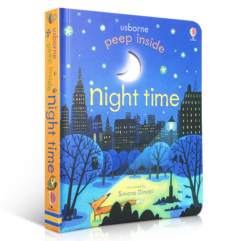 Peep Inside Night Time English Educational 3D Flap Picture Books For Baby Early Childhood Gift Children Reading Book
