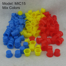 1000pcs 13mm Medium Mix Colors Tattoo Ink Cups Caps Blue Red Yellow Colors Permanent Makeup Pigment Cups Supply MIC13-1000#