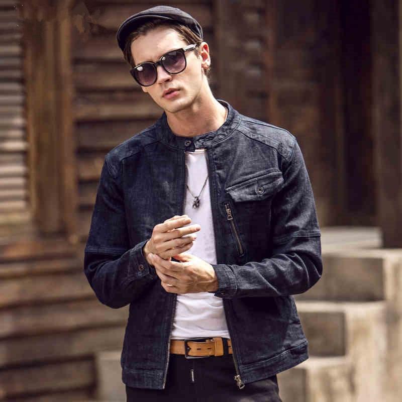 2017 New Europe Style Fashion font b Men b font Denim Jacket Brand Casual Slim font