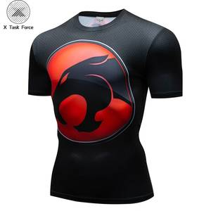 Superhero T shirts Men Compression Superman Marvel T-shirts Fitness Man Tshirts Bodybuilding Top Cosplay X Task Force