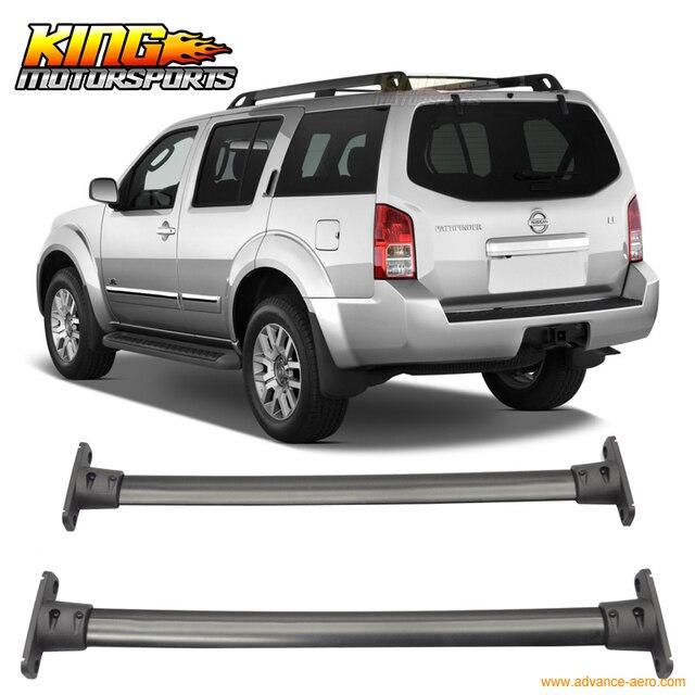 Amazing For 05 12 Nissan Pathfinder Cross Bar Roof Rack Black Cap Set