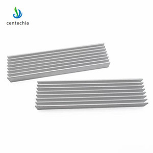 Image 3 - Durable Silver Aluminium Radiating Fin Cooling Heatsink 100*25*10MM for LED Power Transistor Electrical Radiator Chip