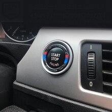 Для BMW 3 серии E90 E92 E93 E89 Z4 M Спорт углеродное волокно двигатель старт стоп кнопка зажигания Брелок декор отделка
