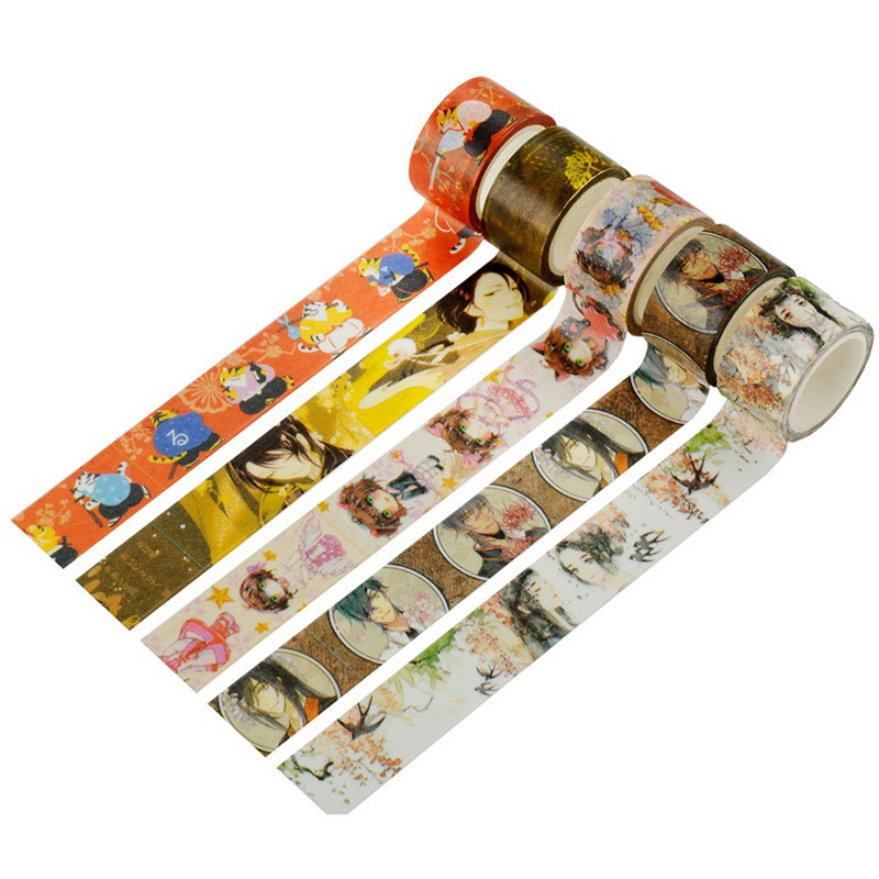 Japanese Vintage Adhesive Washi Tape Washitape Cute Anime Character Wash Papeleria Kawaii Stationery Store Escritorio Deco Items ...