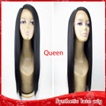 Wholesale high density yaki straight hair glueless synthetic lace front wig heat resistant kinky straight wigs for black women