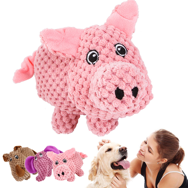 Dog Toys Squeaking Pet Dog Cat Plush Squeak Sound Dog Toys Funny Durability Chew Molar Your Pet Love To Chew & Cuddle This Toy