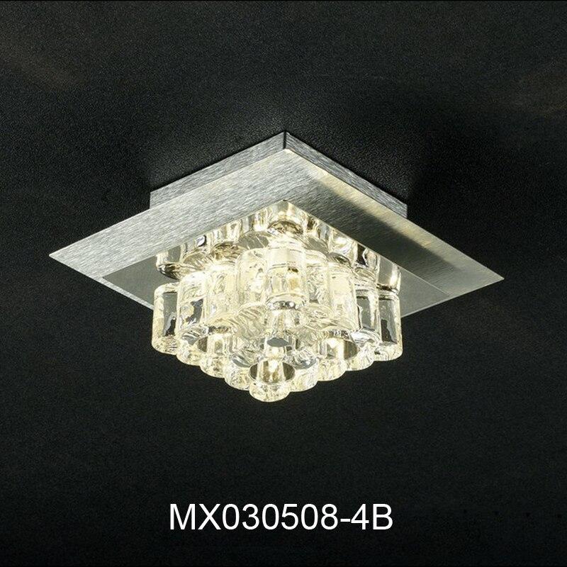 Neue Produkt Lampe Zeitgenssische Und Vertrag Edelstahl Berzug Kristall Halogen Lichtquelle Absorbieren Deckenleuchten