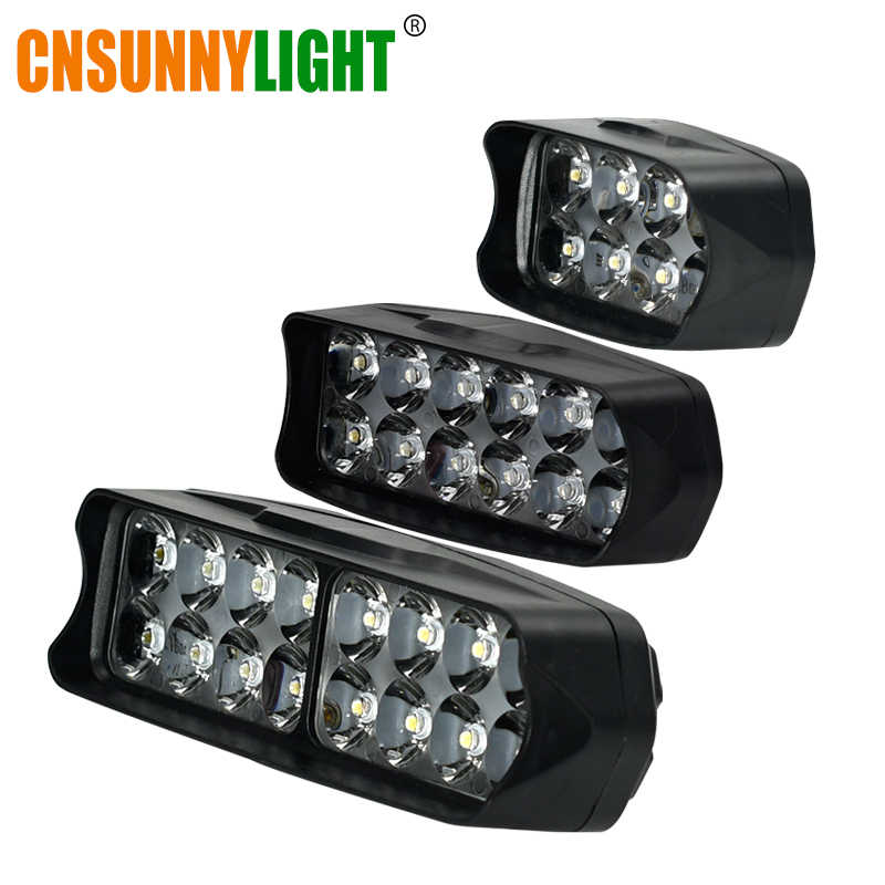 CNSUNNYLIGHT Car LED Headlight 10W/15W/20W White Auto Work Driving Spotlight 4X4WD Offroad Moto Fog Light Motorcycle Accessories