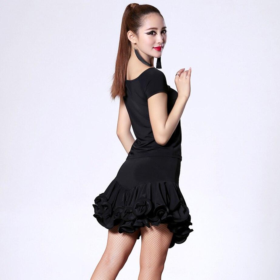 54ee27ca4 2018 Latin Dance Costumes For Women Tops Skirt Cha Cha Rumba Samba ...