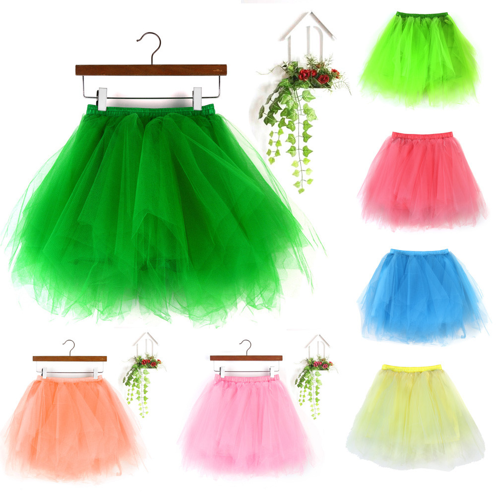 Womens Fashion High Quality Pleated Gauze Short Skirt Adult Tutu Dancing Skirt skirts womens jupe femme ropa mujer spodnica 2020