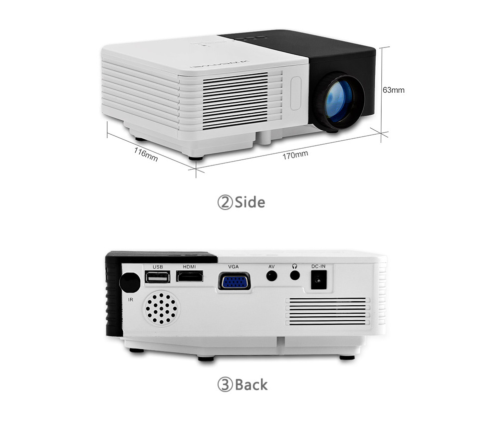 AUN Android 6.0 Projector AKEY3 Plus, 1280*800 Smart Beamer