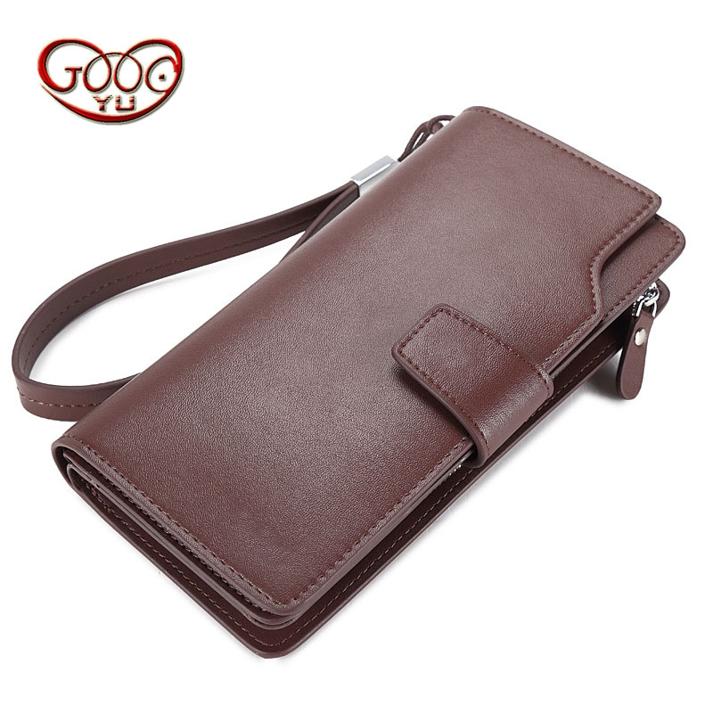 Business men long wallet buckle cross section square zipper package Korean version of mobile phone package hot section handbags ladies wallet women long section 2017 new korean version of the multi functional small fresh money card package zipper